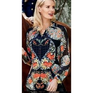 CABi Amour floral heart  Blouse